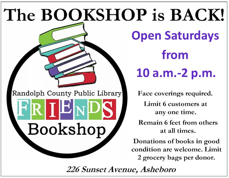 Friends Bookshop reopens October 10!