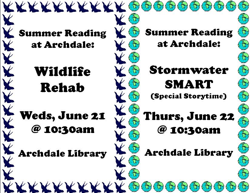 Wildlife Rehab and Stormwater SMART in Archdale!