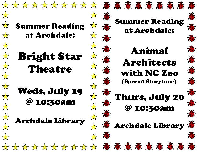 Bright Star Theatre and Animal Architects with NC Zoo in Archdale!