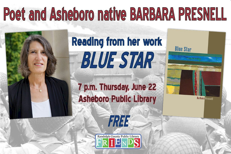 Listen to Poet and Asheboro Native Barbara Presnell Read From Her Newest Work Blue Star!