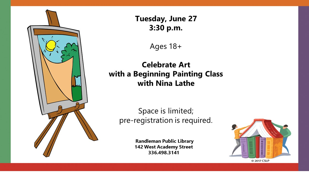 Celebrate Art with a Beginning Painting Class in Randleman!