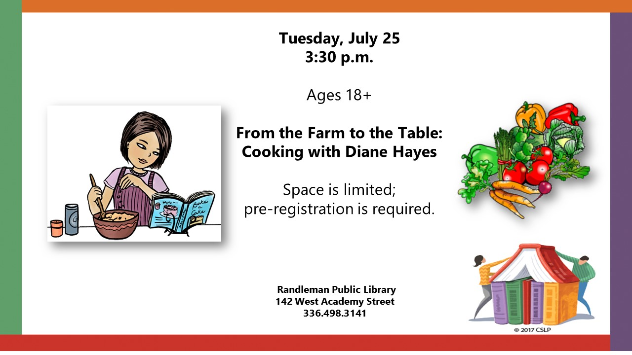 From Farm to Table Cooking in Randleman!