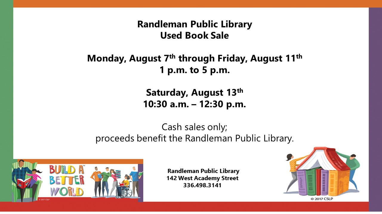 Used Book Sale in Randleman!