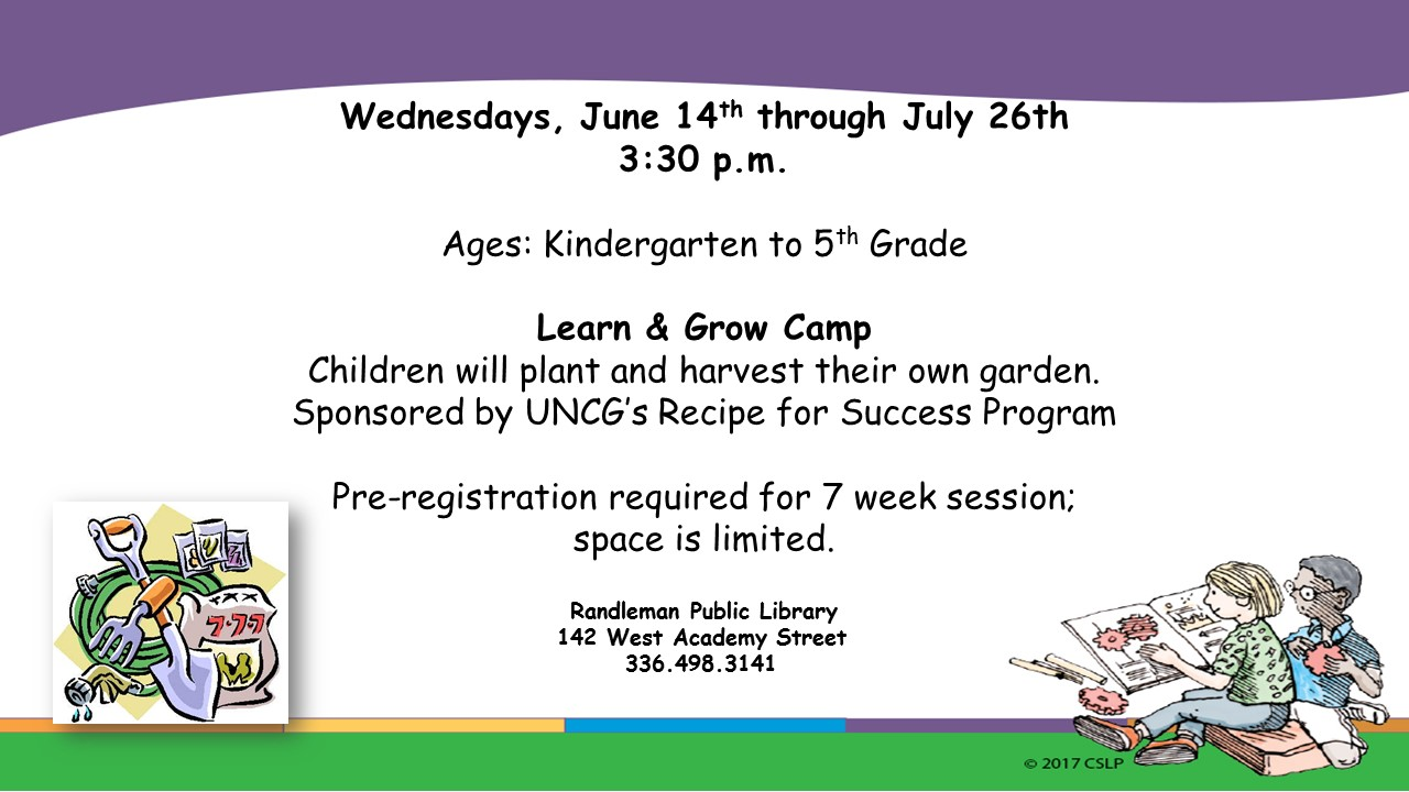 Learn and Grow Camp in Randleman!