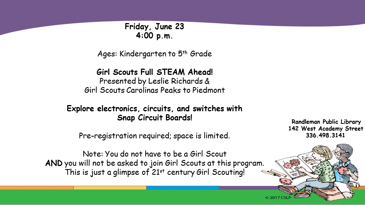 Girl Scouts Full STEAM Ahead in Randleman!