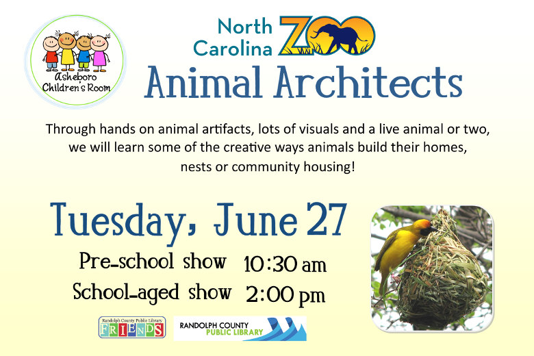 Learn the creative ways animals build their homes with the NC Zoo!