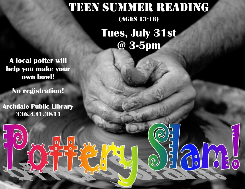 Teens Can Make Pottery for FREE in Archdale!