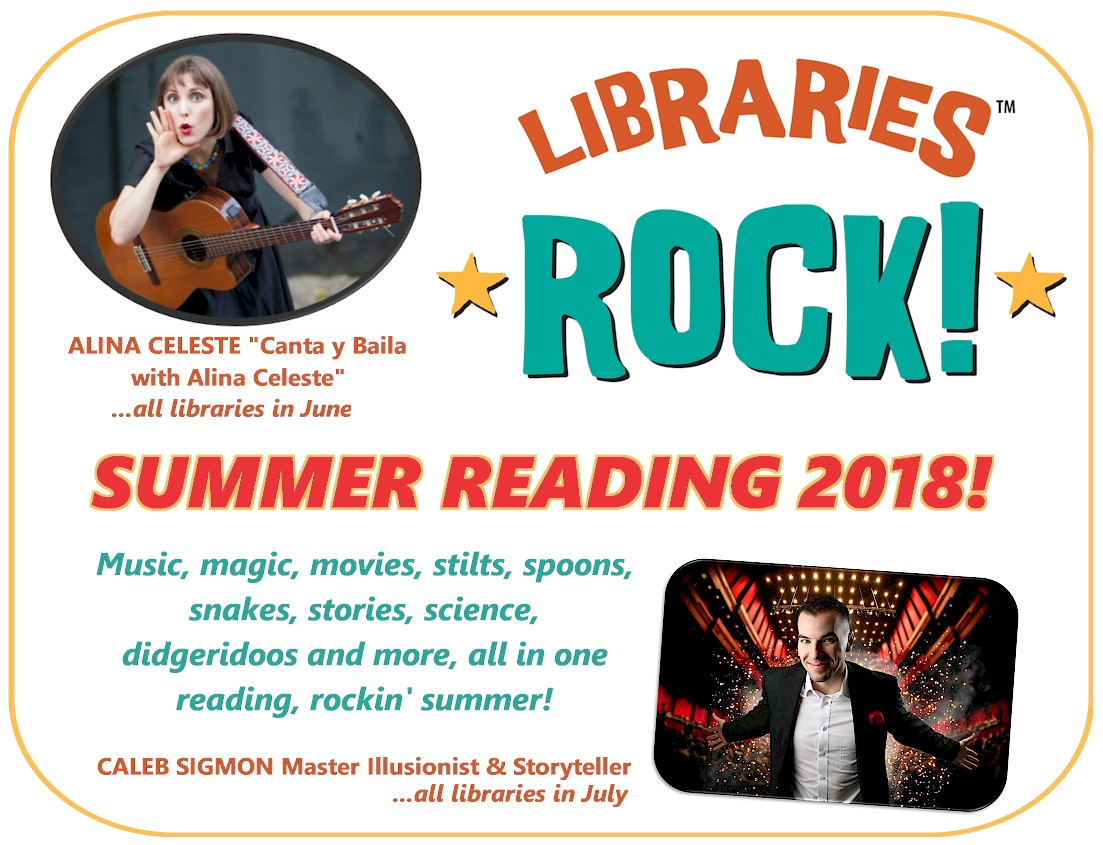 Our two major events at all libraries this summer!